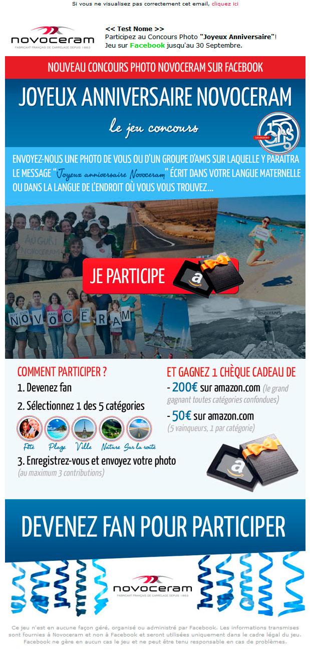 Joyeux Anniversaire Novoceram Le Concours Photographique Sur Facebook