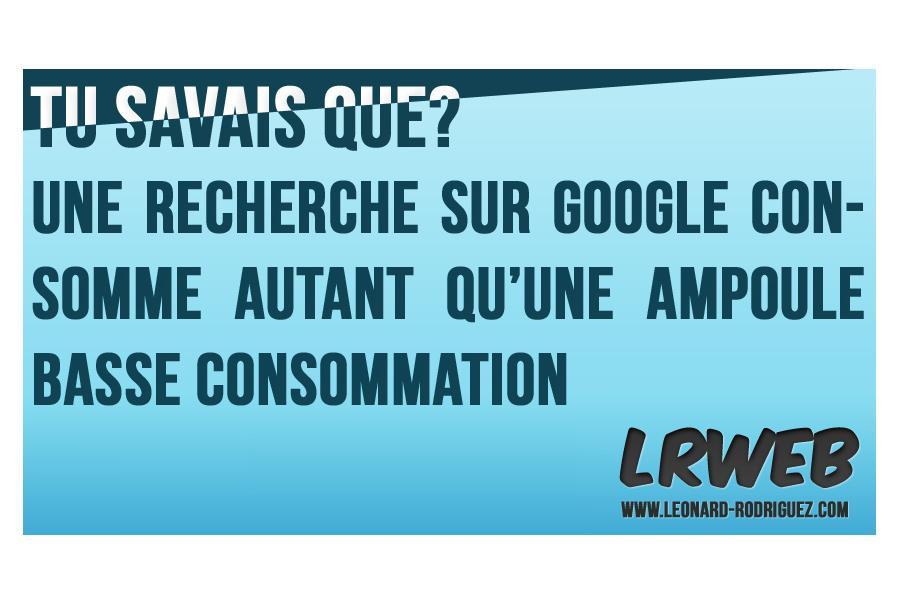 Recherche sur Google consomme autant qu'une ampoule