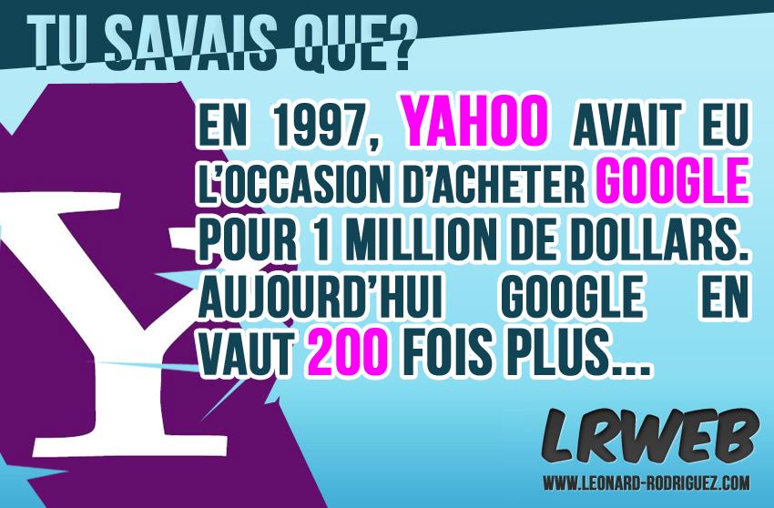 Yahoo aurait pu racheter Google...