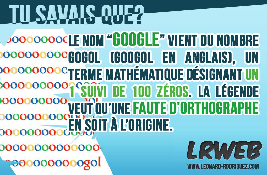 Le nom de Google : une faute d'ortographe?