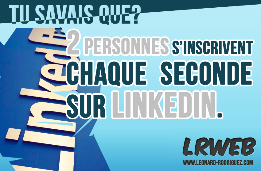 2 inscription / seconde sur Linkedin
