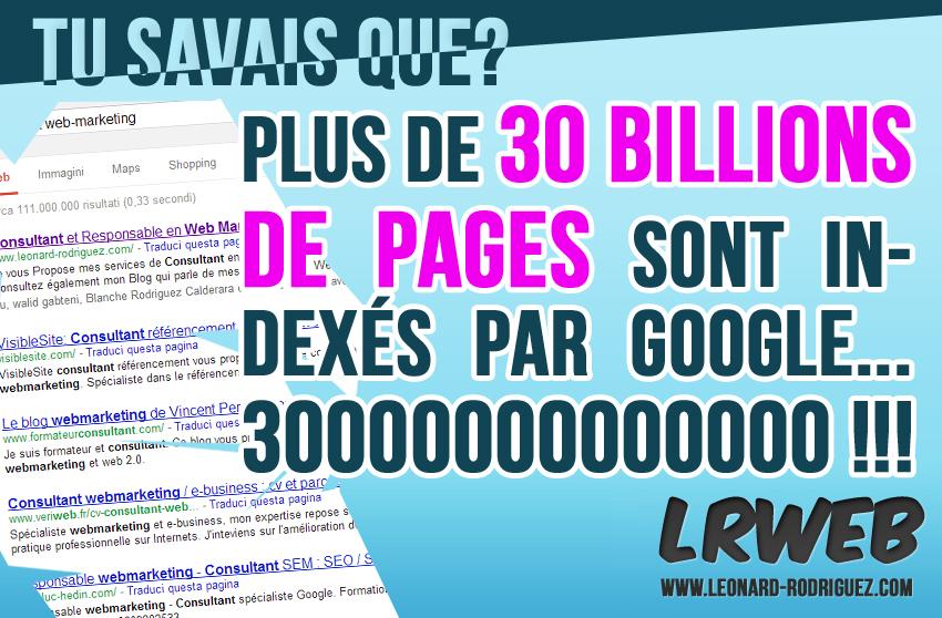 30 billions de pages indexées!