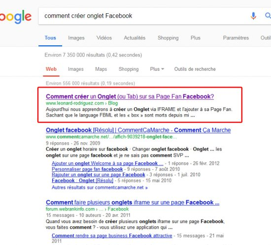 comment creer onglet facebook