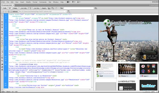 page html